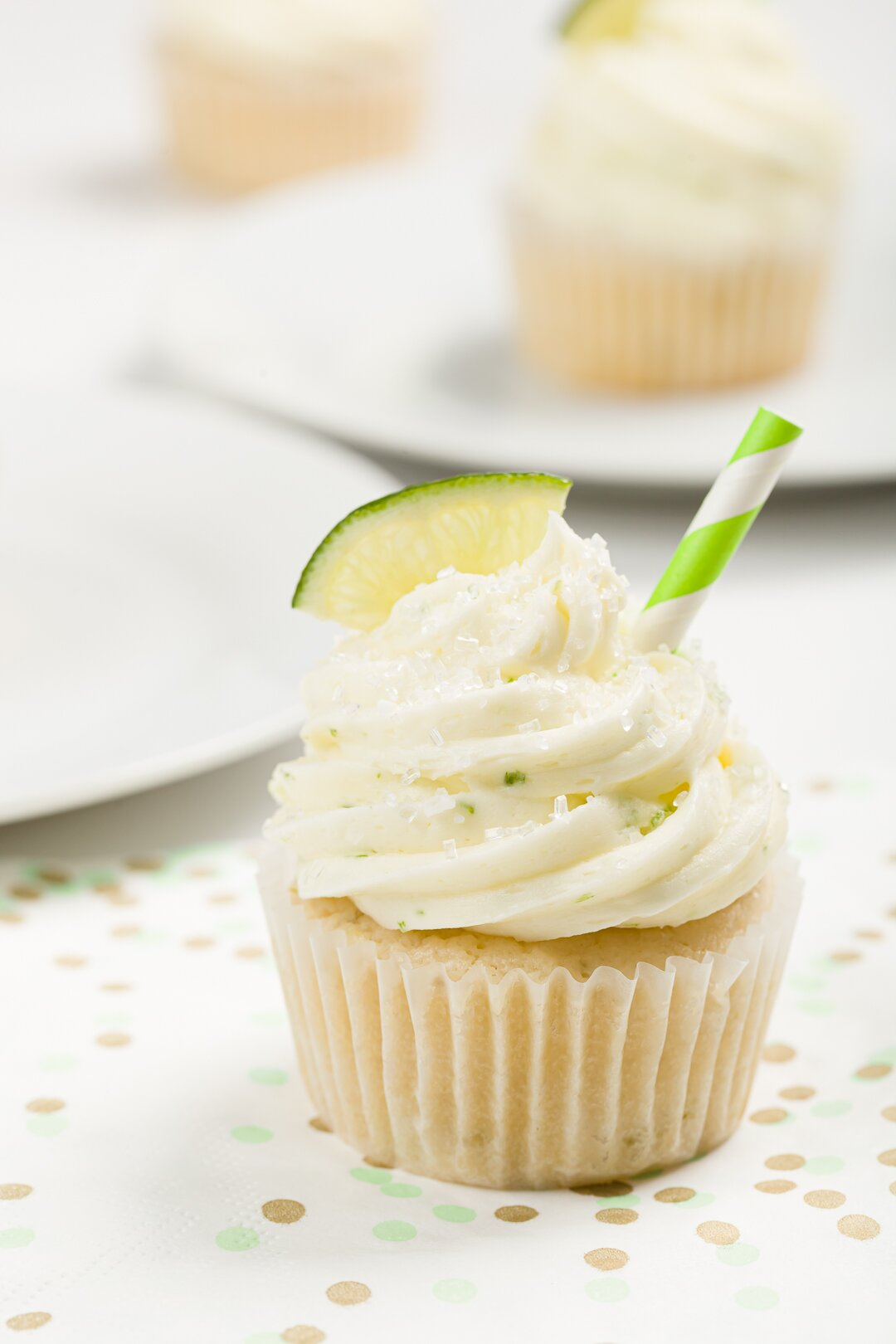 Margarita Cupcakes With Margarita Buttercream