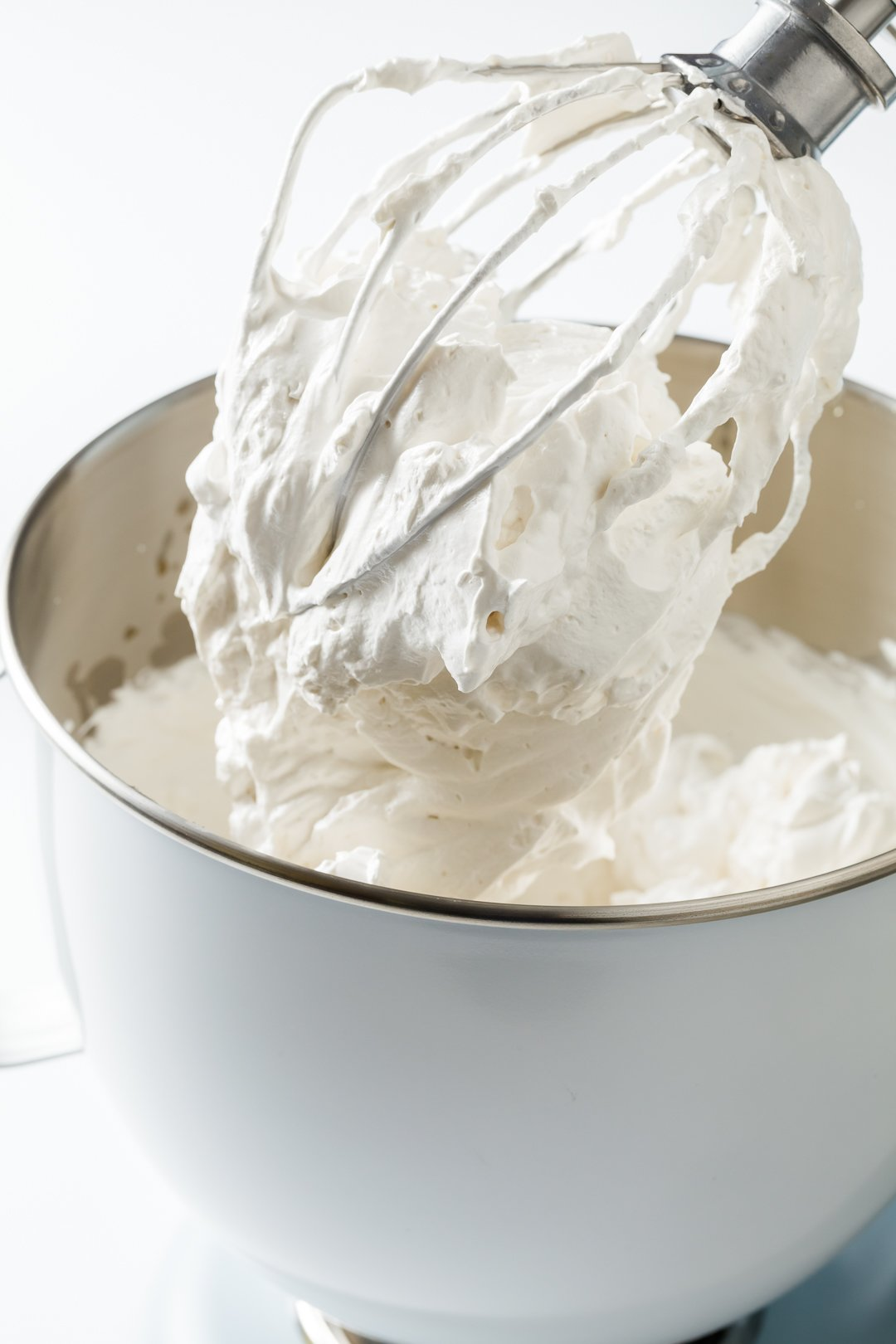 Marshmallow Frosting in a mixing bowl