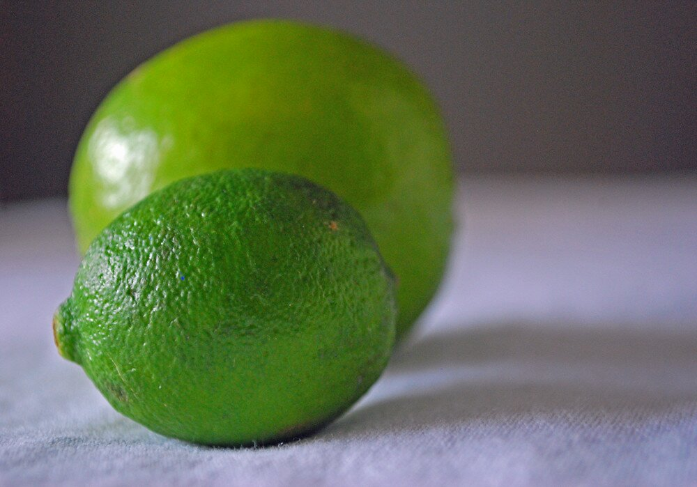 key lime in front of lime