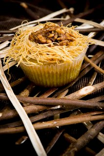 Greek Bird's Nest Cupcakes: The Birds and the Bees