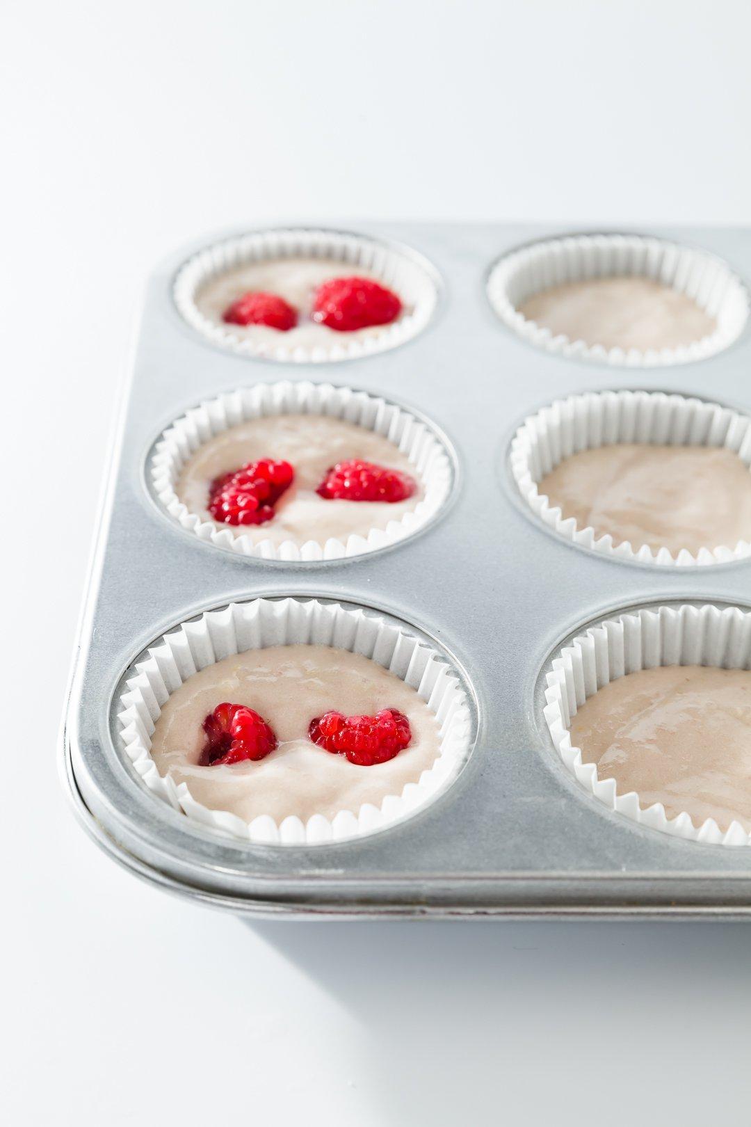 Raspberry Cupcake Batter