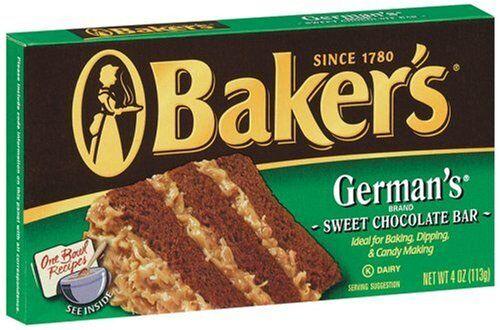 german Baker's chocolate bar