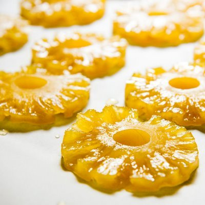 Candied pineapple rings