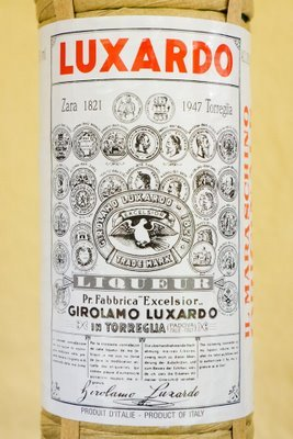 Bottle of Luxardo maraschino liqueur