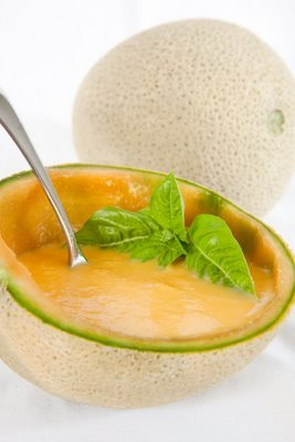 Chilled Cantaloupe Soup with Lemon and Ginger