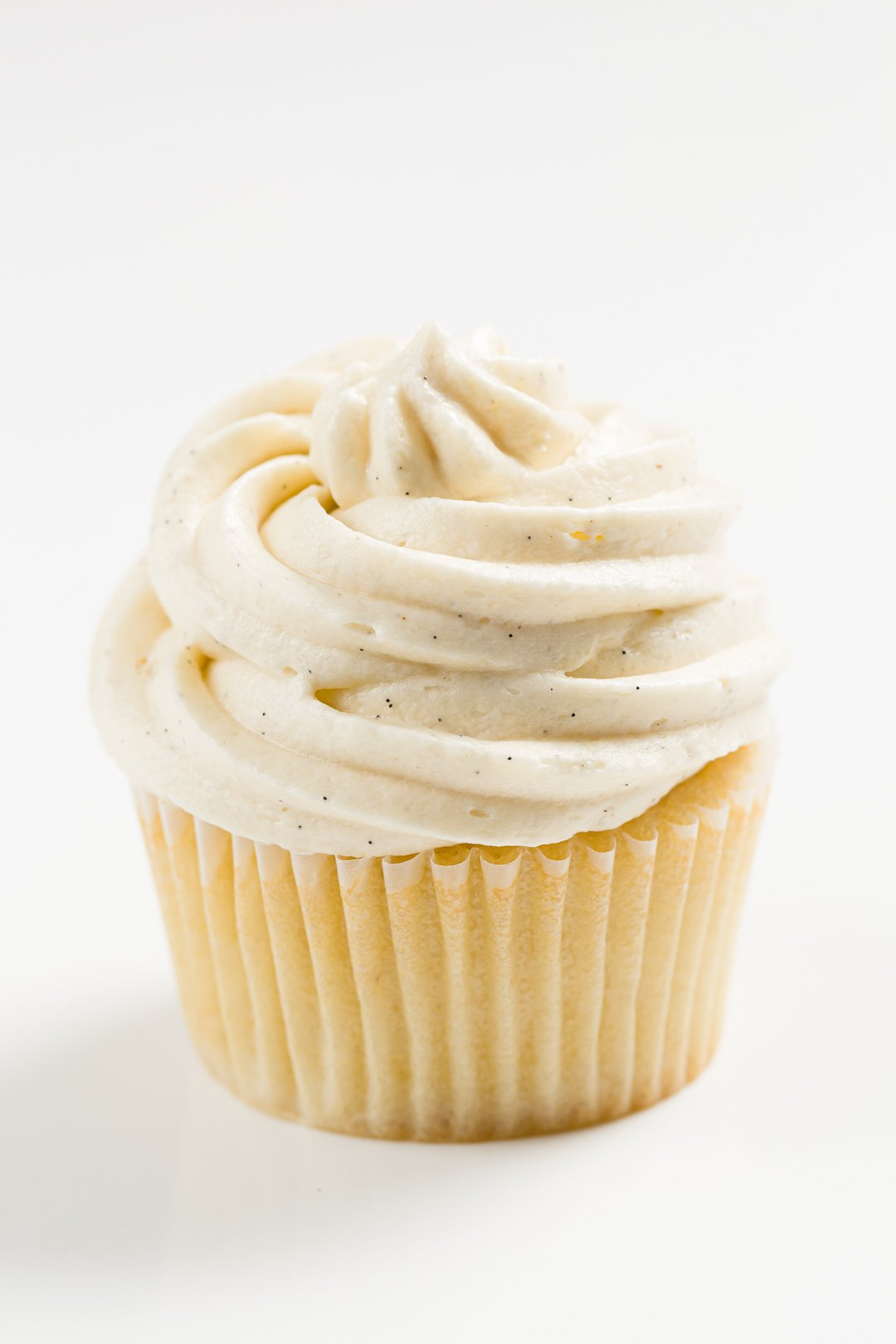 Cupcake topped with sour cream frosting