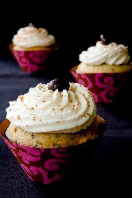 Mudslide Cupcakes with Baileys Irish Cream Whipped Cream