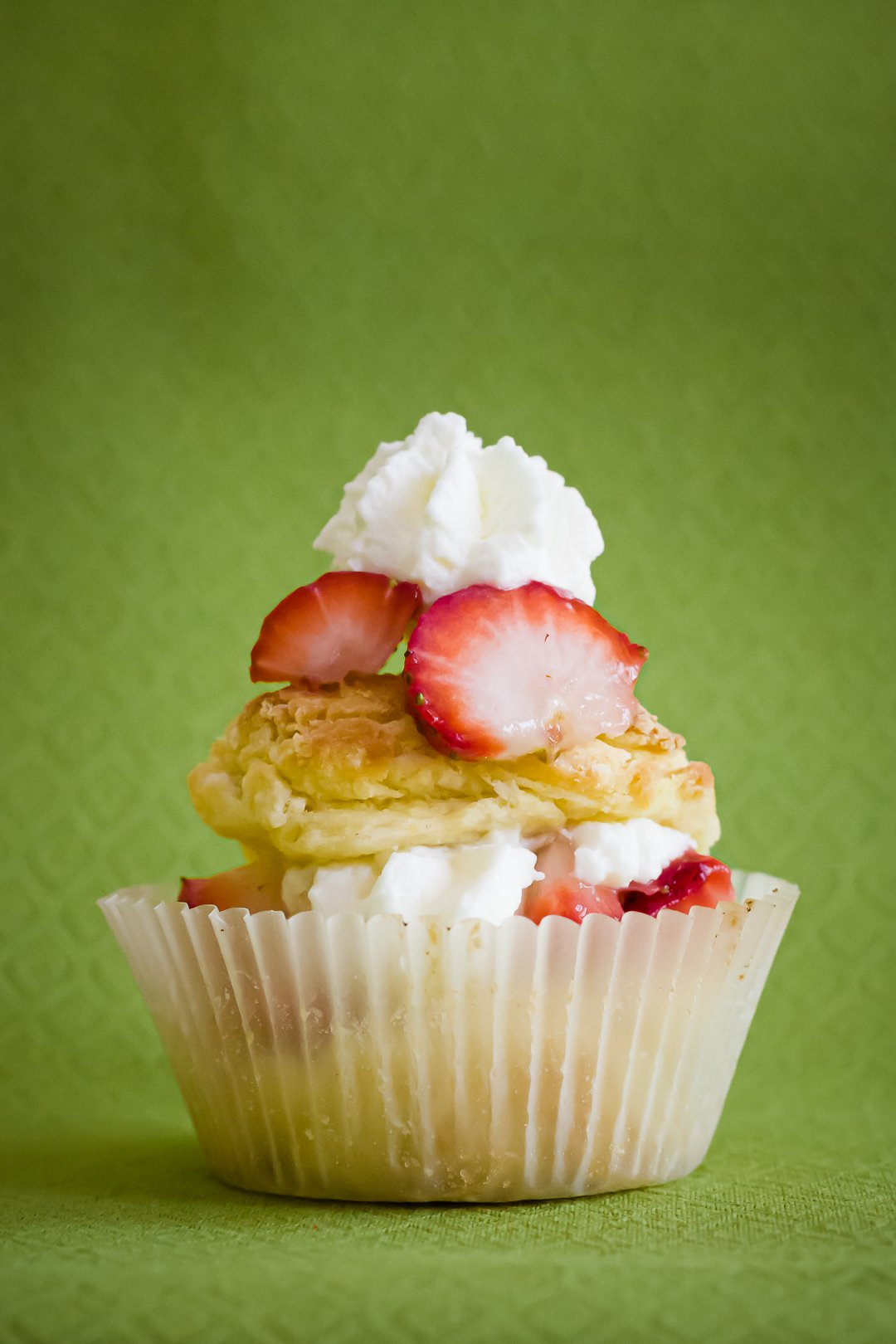 Strawberry Shortcake Cupcakes with Balsamic Whipped Cream
