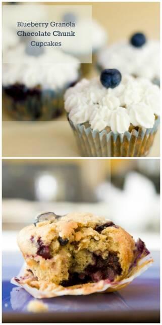 Blueberry Granola Chocolate Chunk Cupcakes