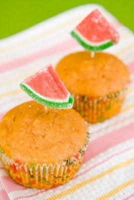 Watermelon Cupcakes – Attempt One