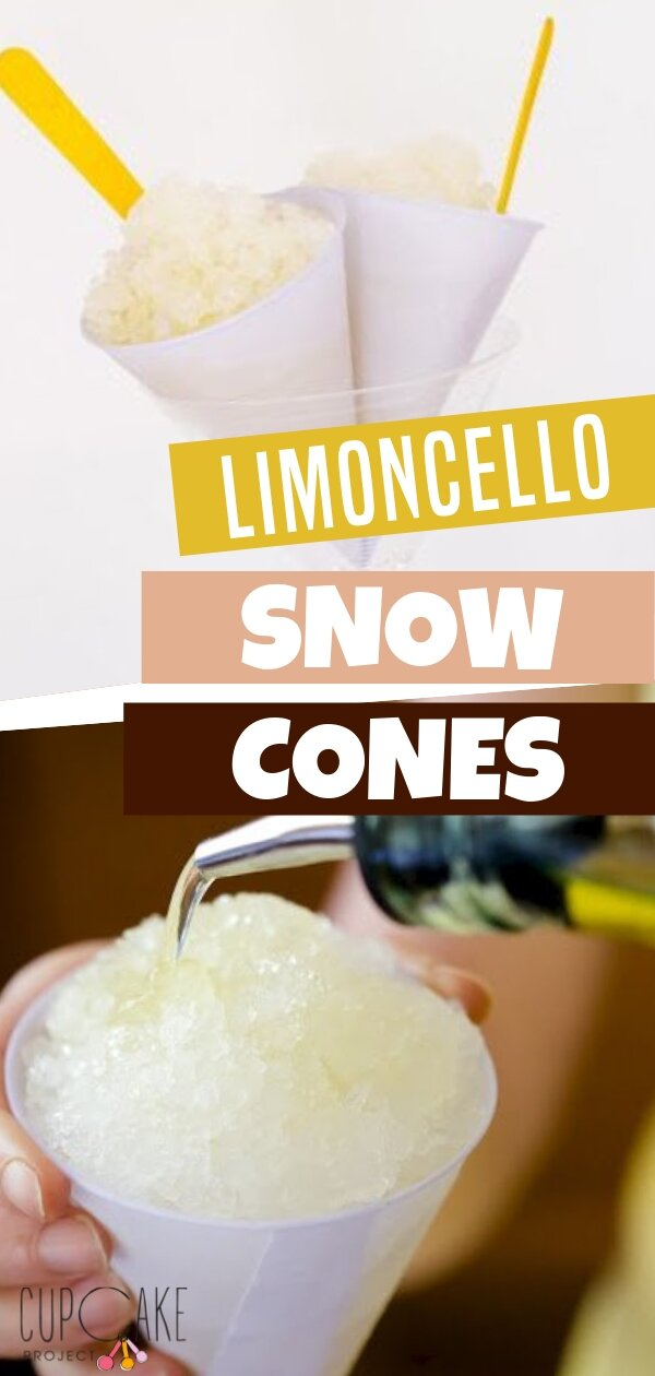 Limoncello snow cones are made with a refreshing minty limoncello syrup. This is a totally chic way to end a cocktail party or any adult gathering on a summer\'s eve. It\'s perfectly tasty and amazing! Save this pin for later!