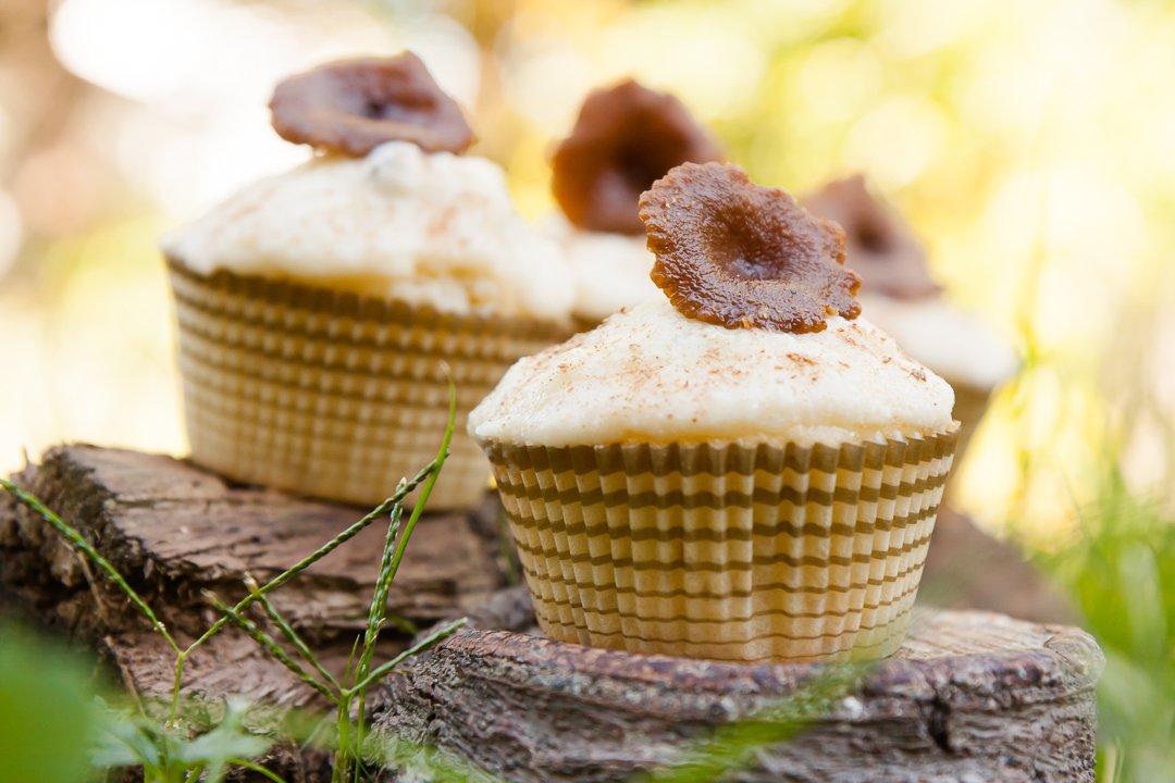 Candy Cap Mushroom Cupcakes