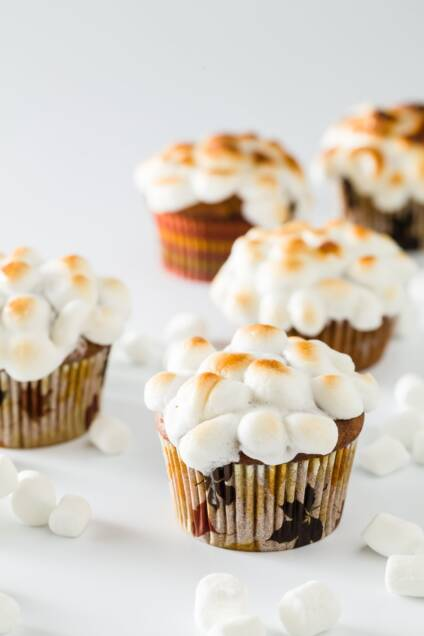 Sweet Potato Muffins Topped with Marshmallows