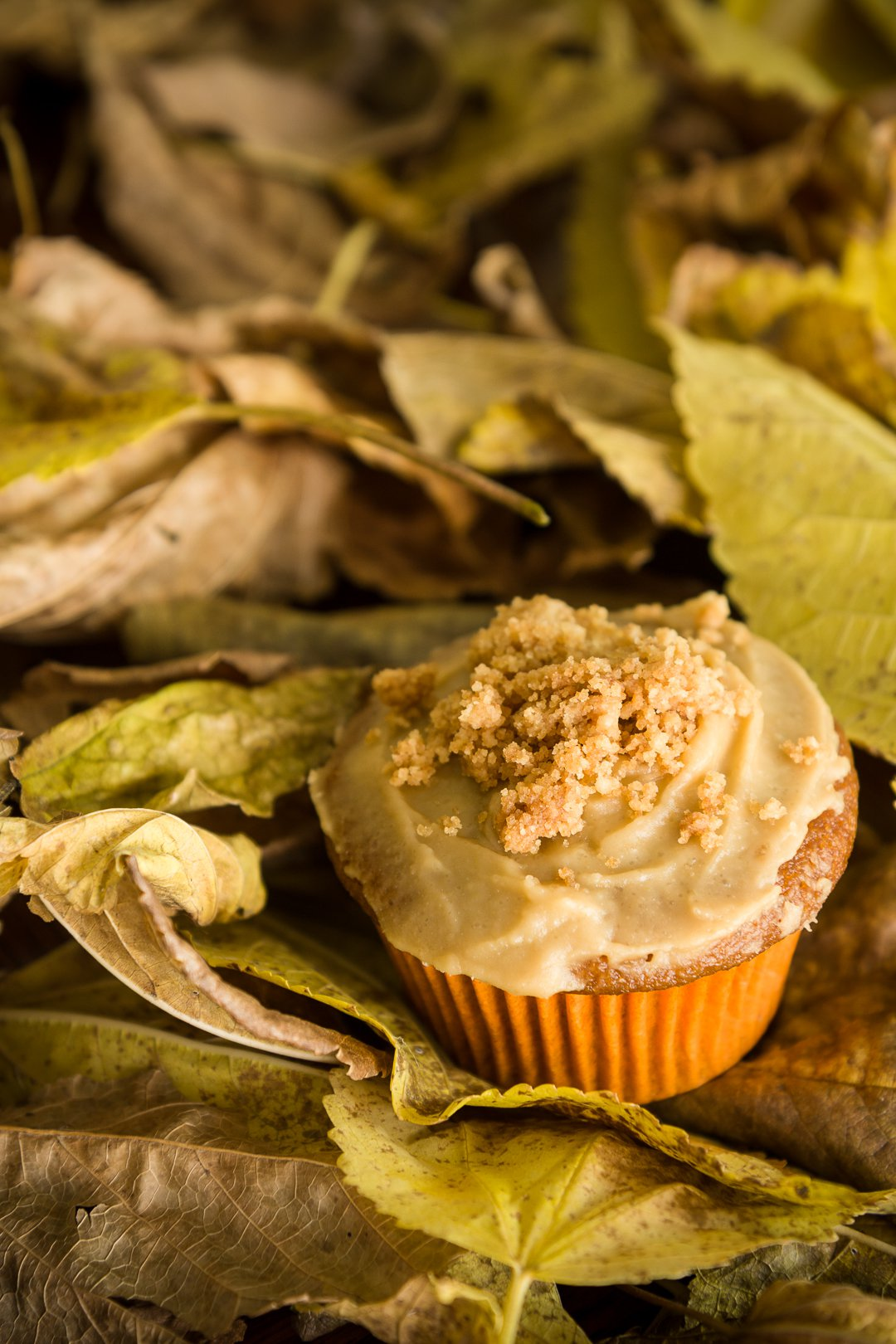 Sweet potato muffins with brown sugar icing