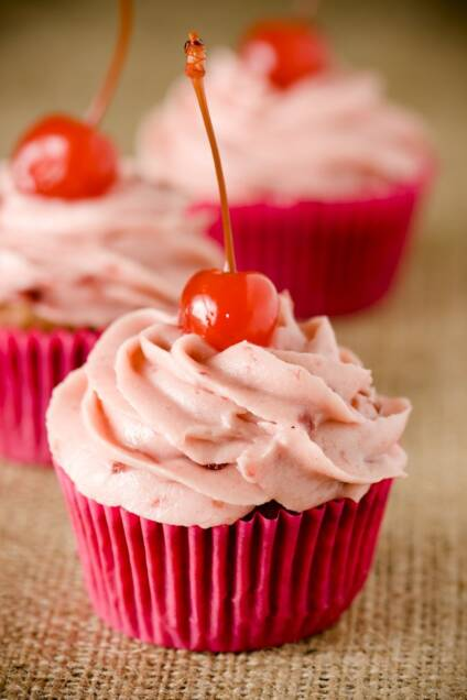 Chocolate Cherry Cupcakes, Two Ways
