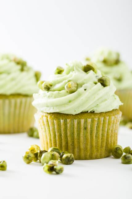 Pea Cupcakes