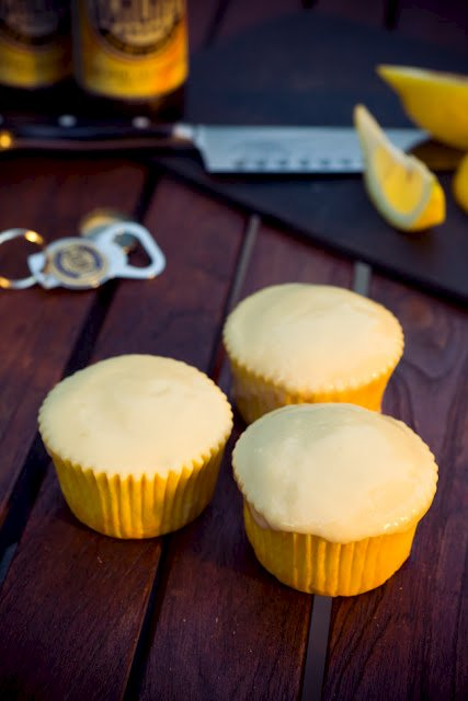 Hefeweizen (Wheat Beer) Cupcakes
