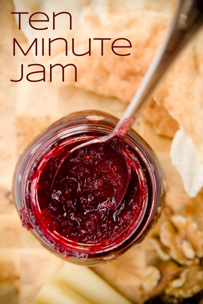 Homemade Cranberry Jam in Ten Minutes