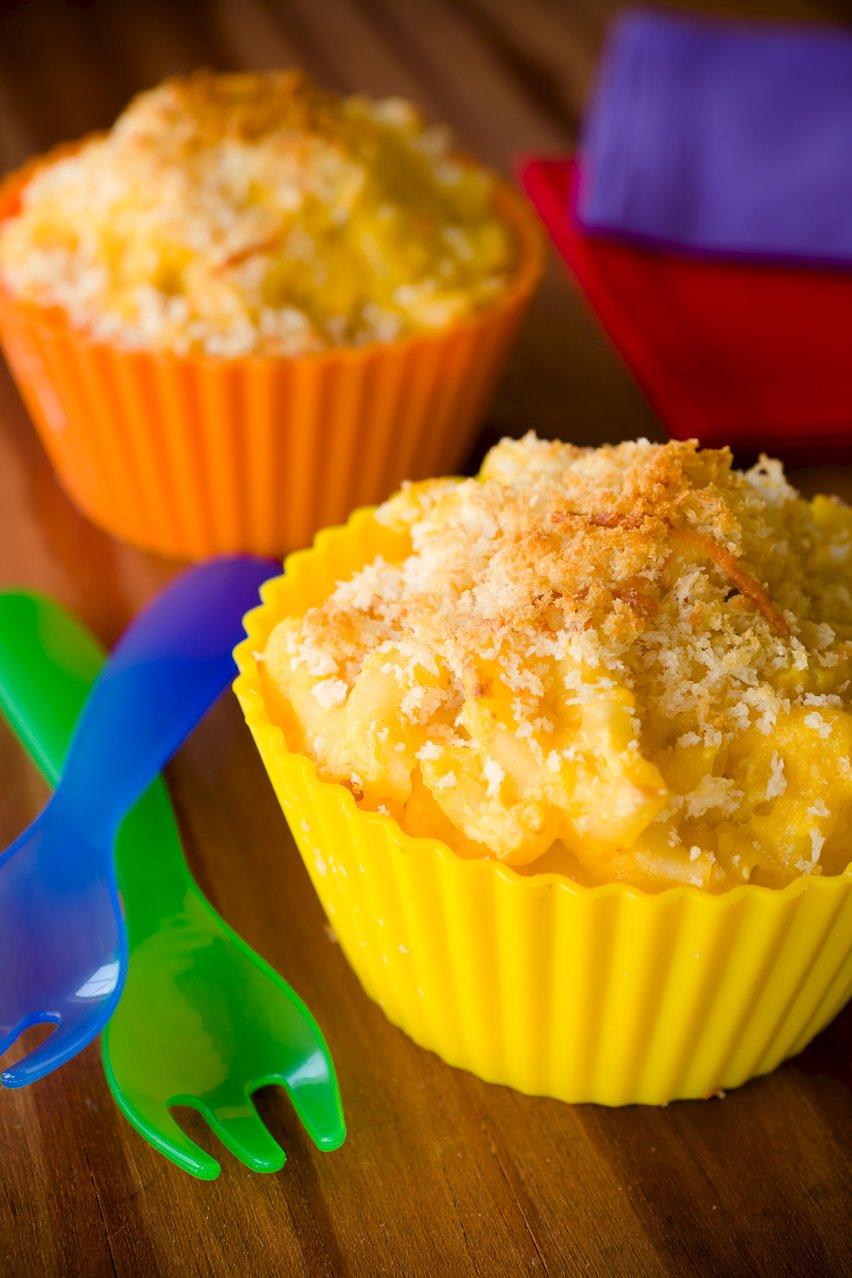 Butternut Squash Mac and Cheese Cupcakes