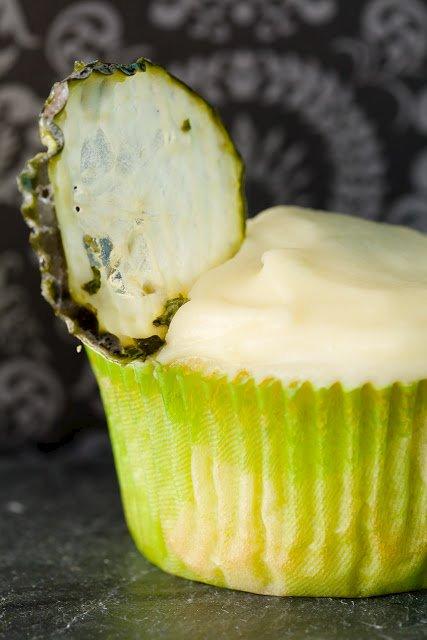 Cucumber Martini Cupcakes