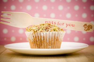Honey Nut Cupcakes for Valentine's Day