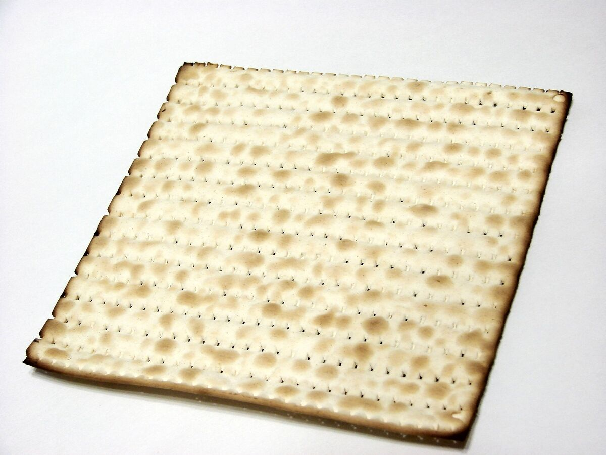 one piece of matzah
