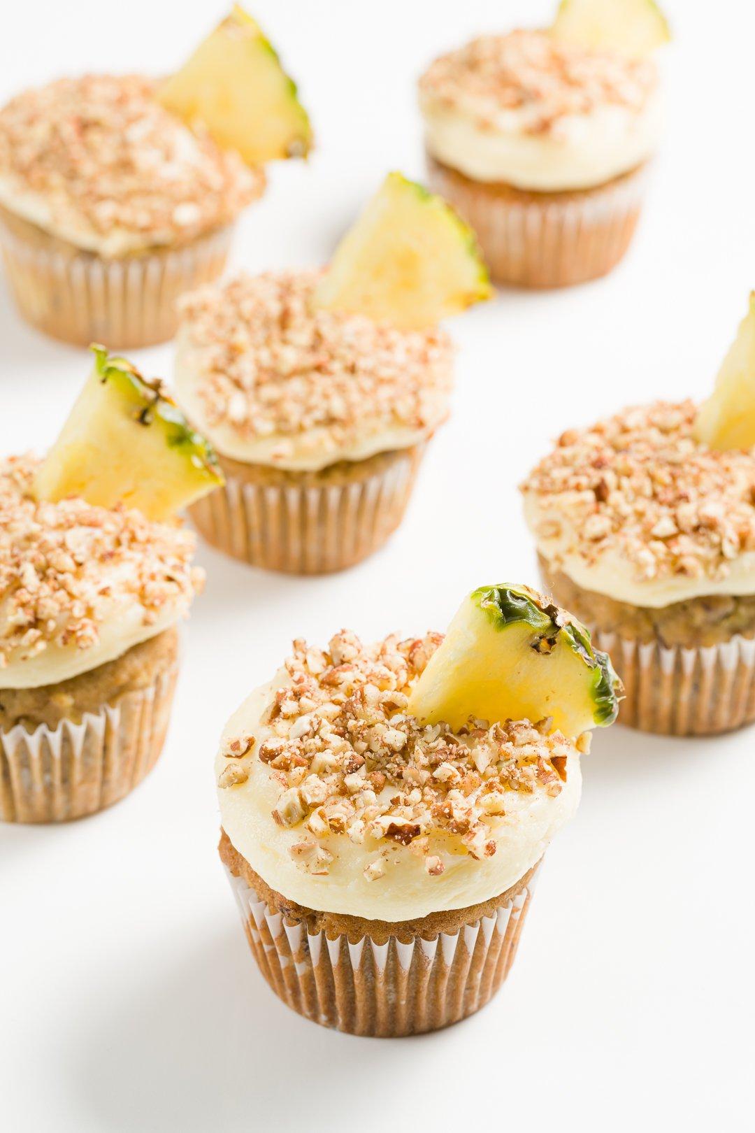 A group of hummingbird cupcakes