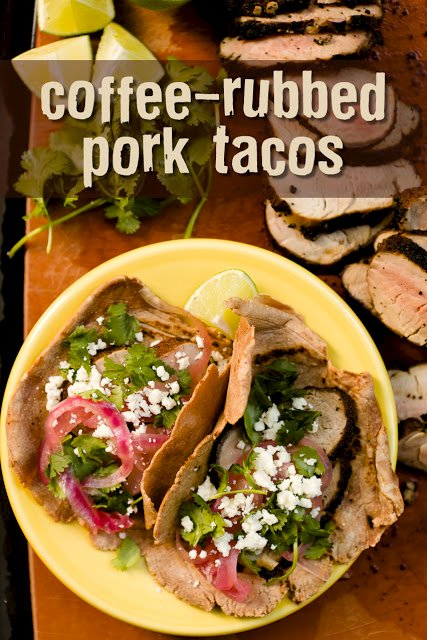 Coffee-Rubbed Pork Tacos on Homemade Chocolate Corn Tortillas