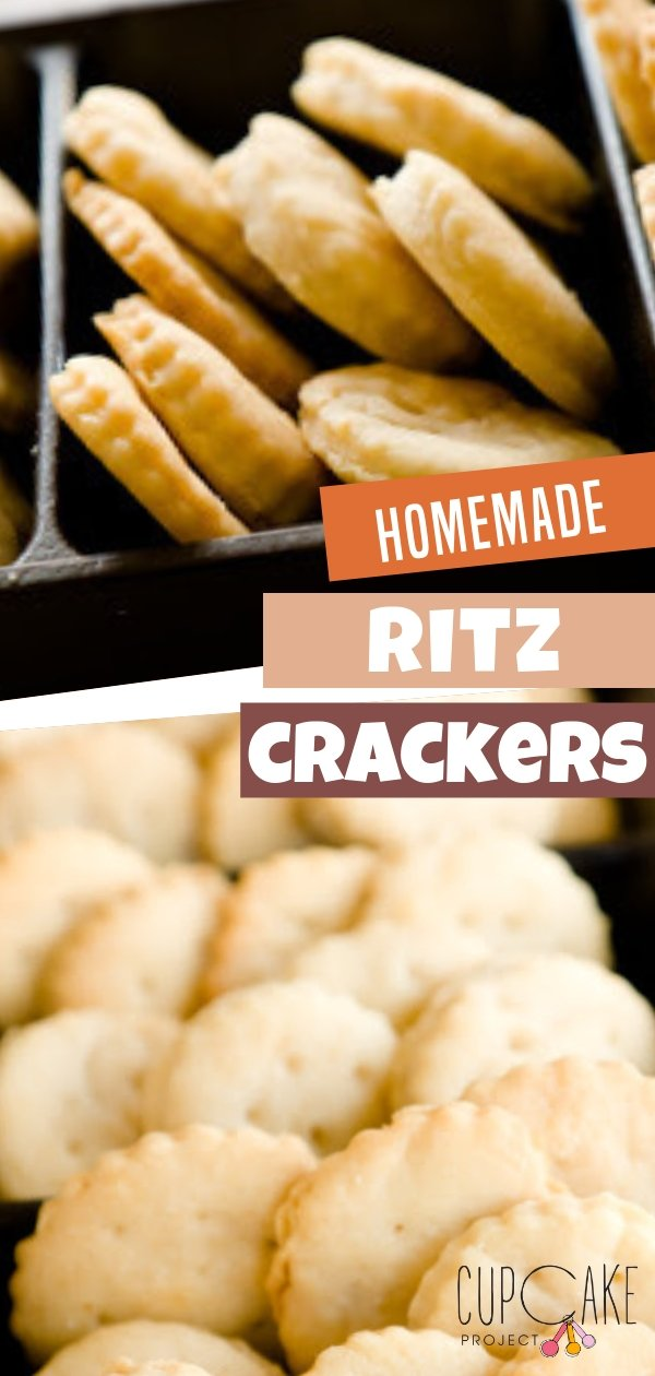 Homemade Ritz Crackers without the high fructose corn syrup and partially hydrogenated oils! This recipe uses a food processor and a healthier option than the original ritz crackers!