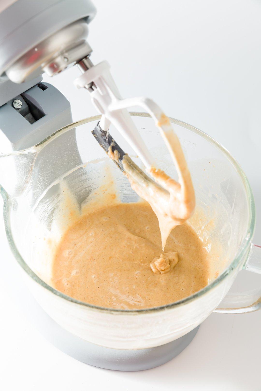 Masa de magdalenas de mantequilla de maní