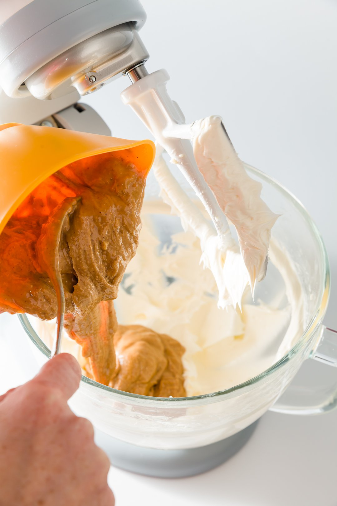 Adding peanut butter to peanut butter frosting