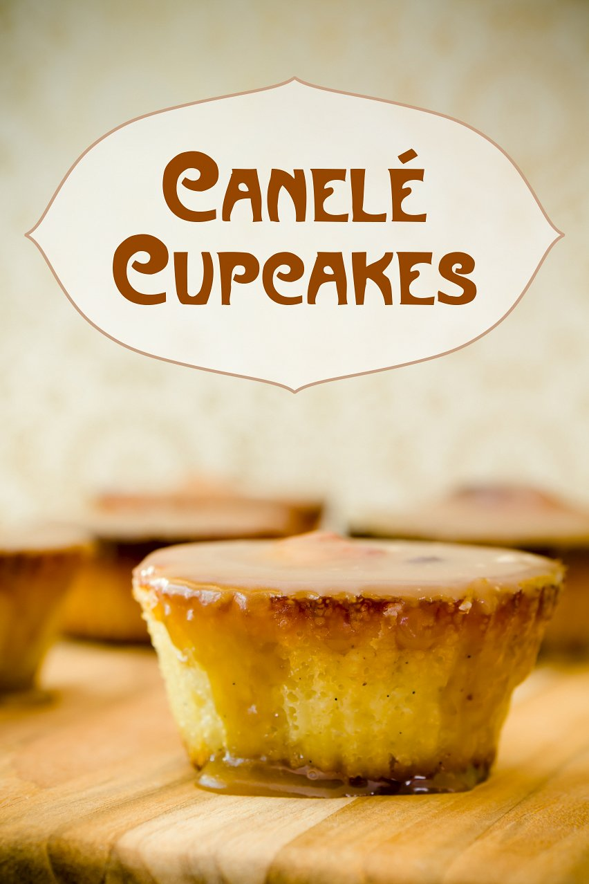 Canelé Cupcakes with Spiced Rum Caramel Frosting