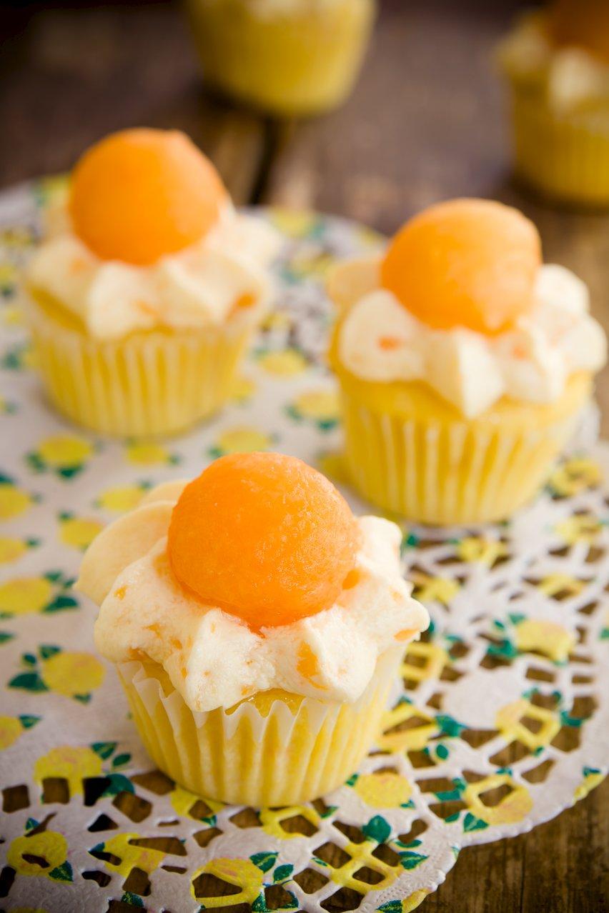 Cantaloupe Cupcakes