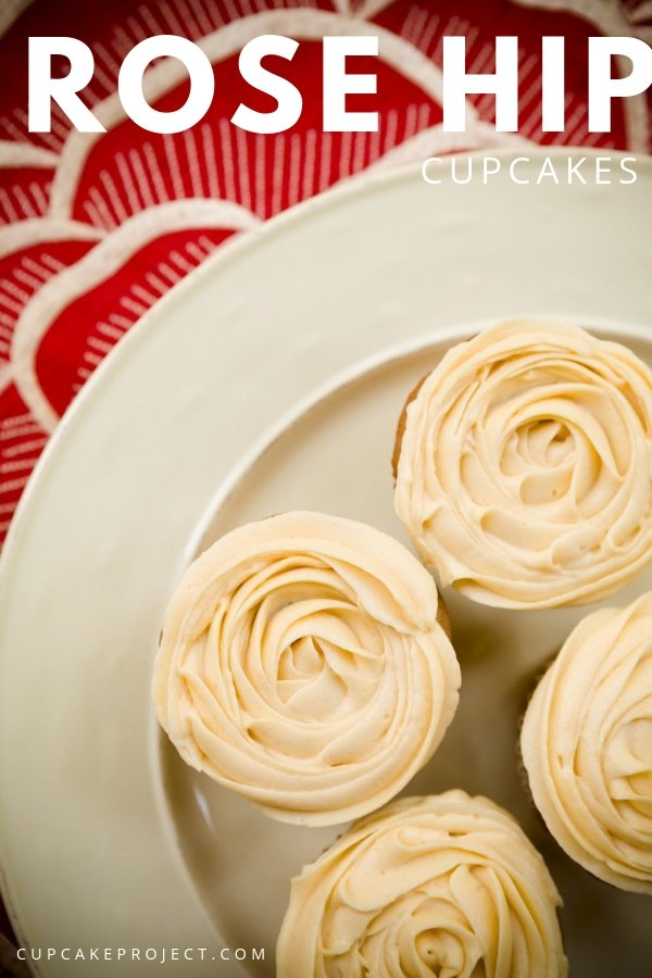 Looking for something different? These Rose Hip Cupcakes are not your regular cupcake flavor but they don\'t taste foreign; rather, they are comfortable and homey. Surely, a cupcake to impress!
