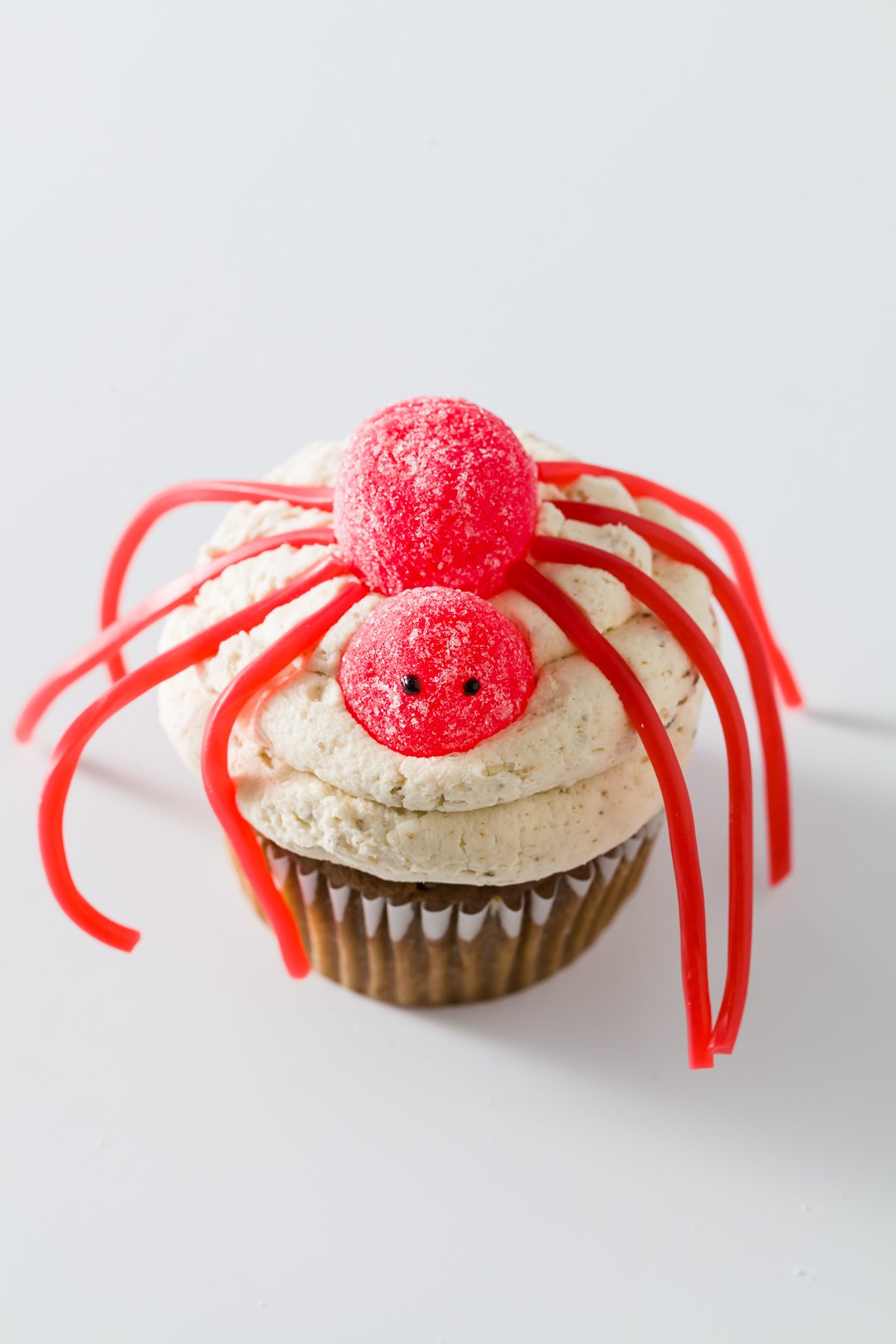 Halloween cupcake with a spider on top