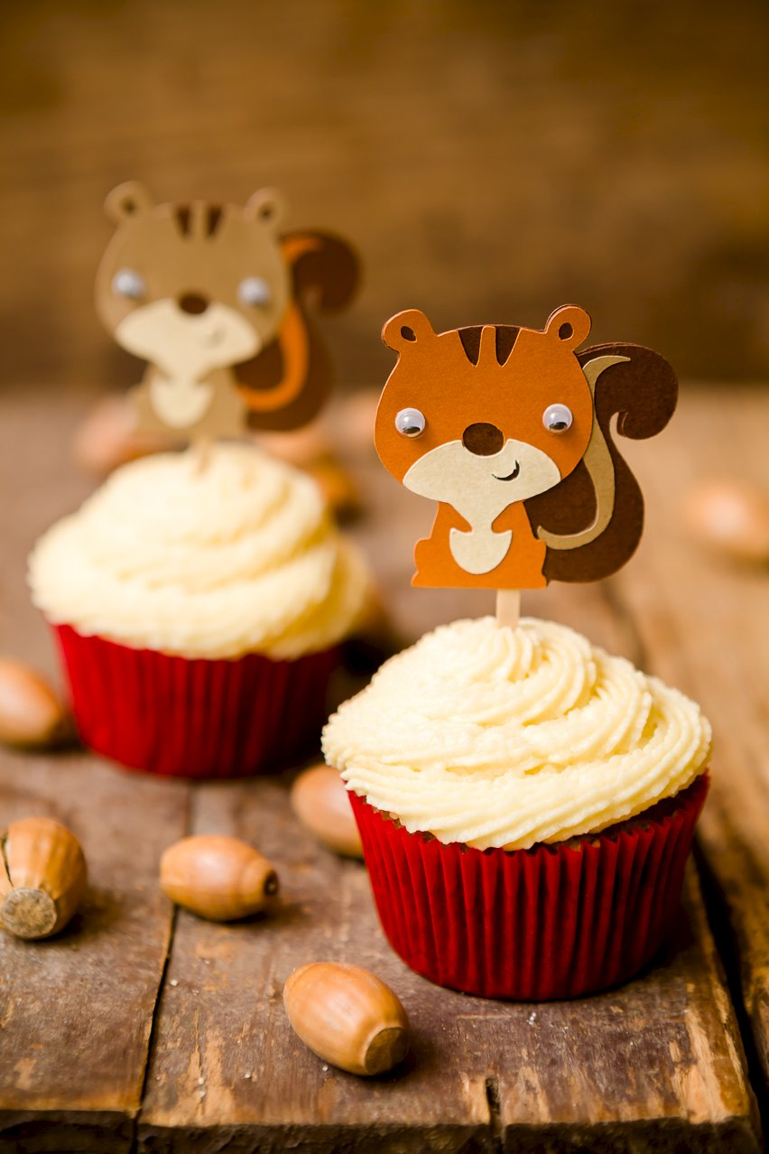 Acorn Cupcakes With Honey Buttercream Frosting