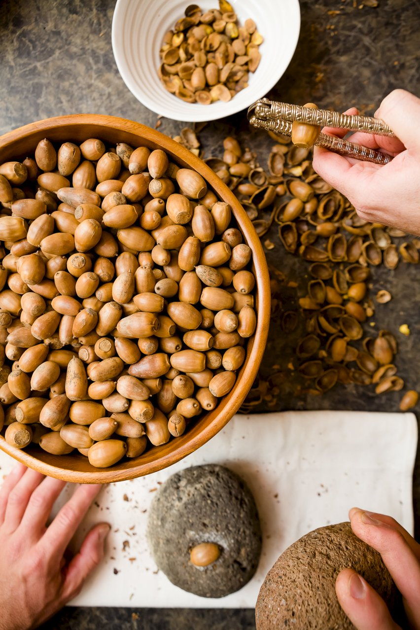 Acorns in a bowl