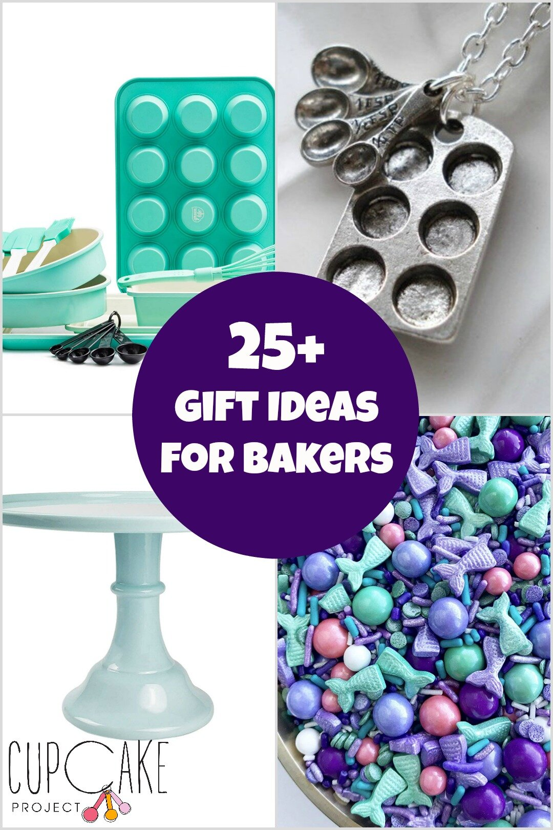 Collage of gift ideas for bakers