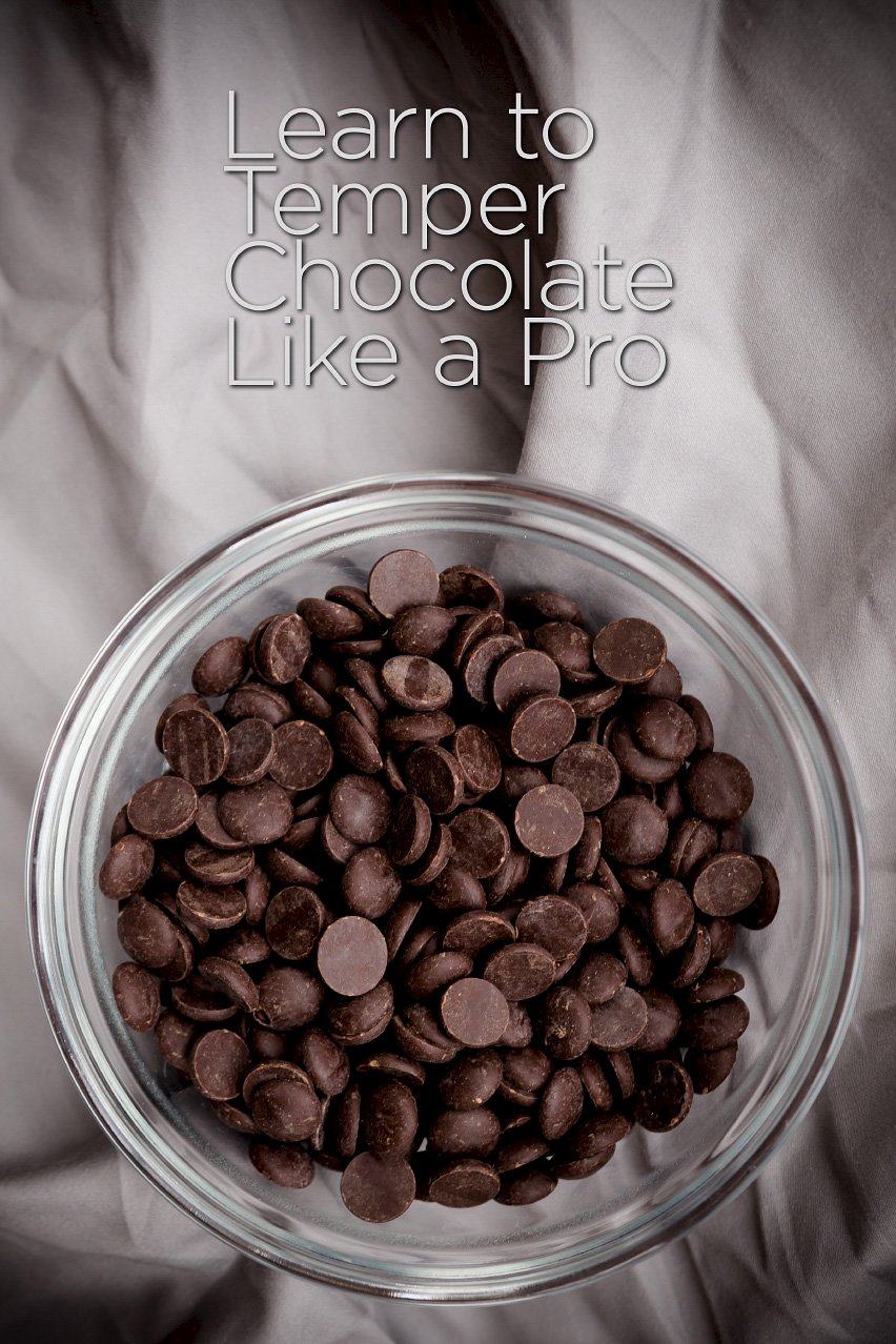 bowl of chocolate chips with the text