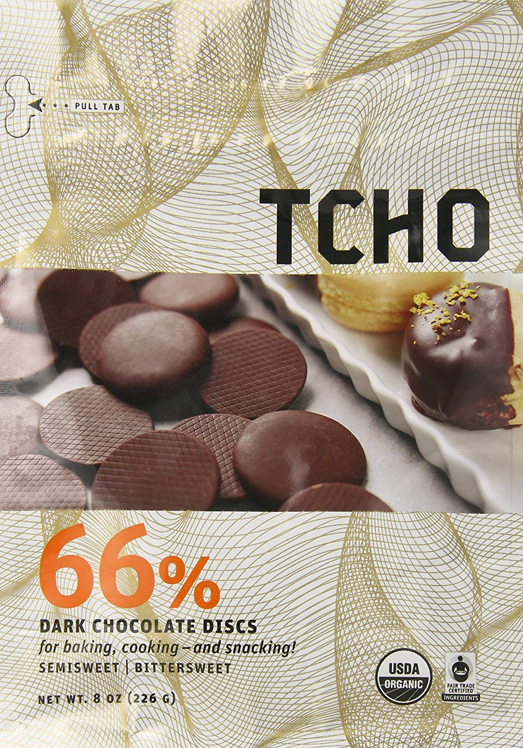 Bag of TCHO Chocolate Discs
