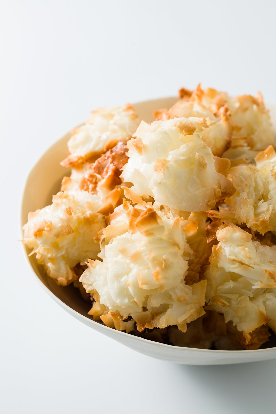 a bowl of coconut macaroons