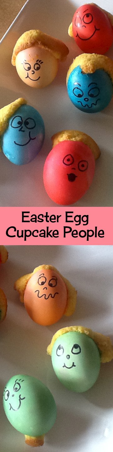 Easter Egg Cupcake People