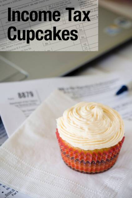 Income Tax Cupcakes