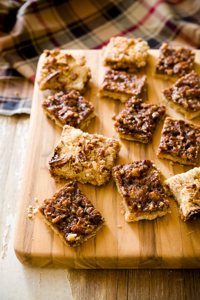 Pecan Pie Bars Made With Maple Syrup