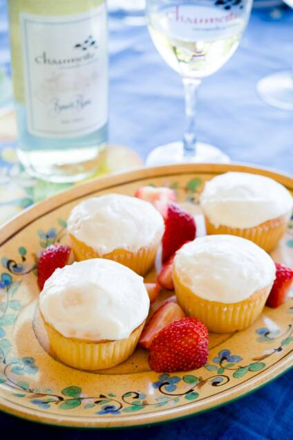 Take a Trip and Have Some Wine and Cheese Cupcakes