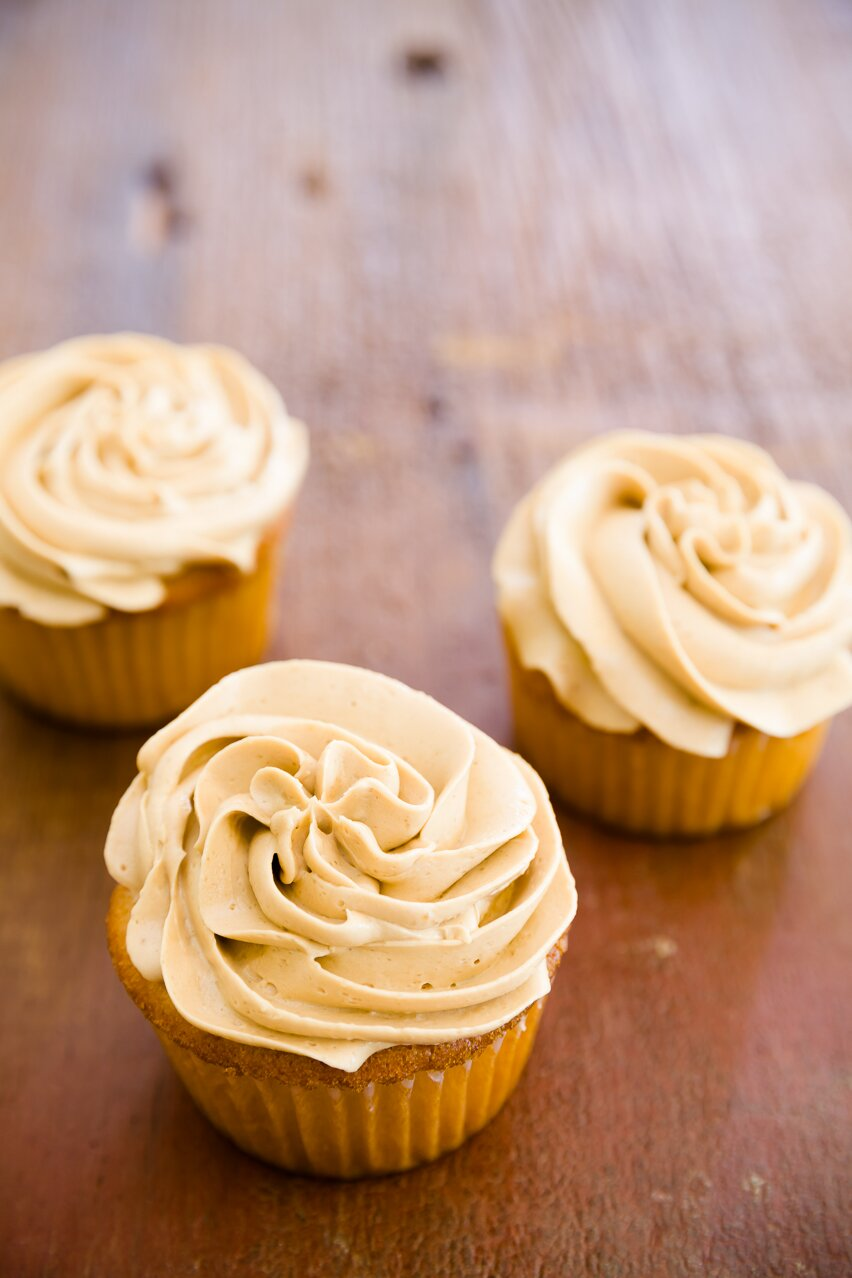 Biscoff cupcakes with cookie butter frosting