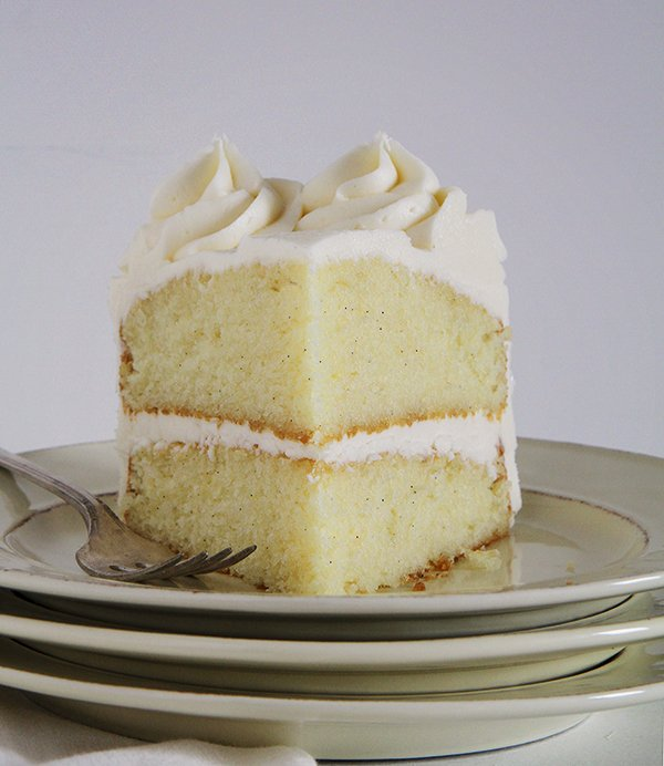 Vanilla cake served on a plate