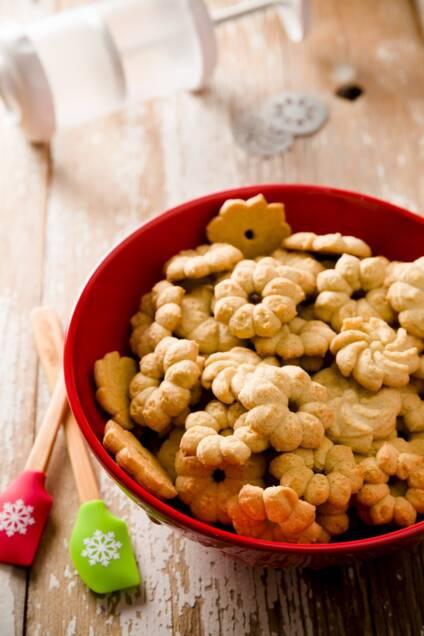 Brown Butter Cardamom Orange Spritz Cookies