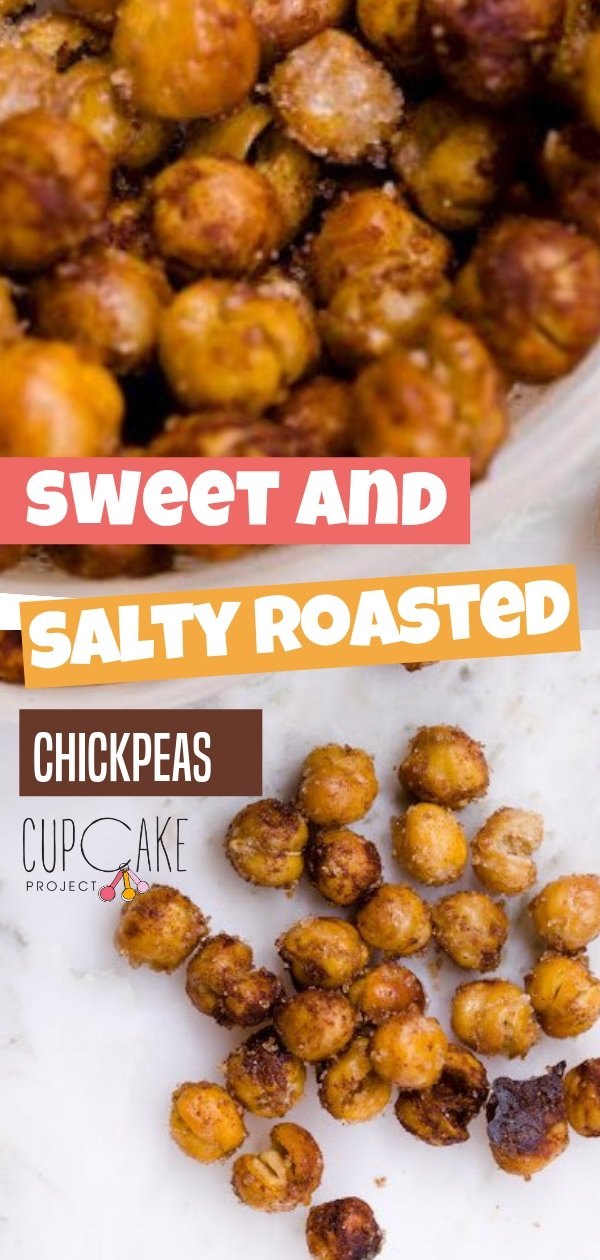 With minimal effort, some sugar, a small amount of oil, spices, and salt, a can of chickpeas can turn into an addictive, crunchy, and healthy snack! Eat them hot by a handful but don't forget to save a few as cupcake toppers!