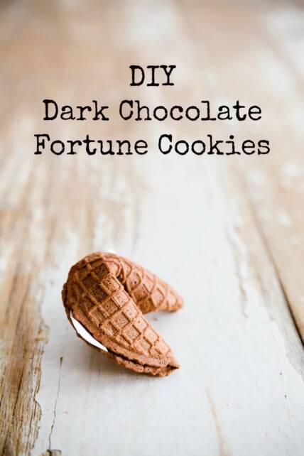 Dark Chocolate Fortune Cookies